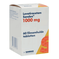 Леветирацетам таблетки 1000мг №60 (60 табл./уп)