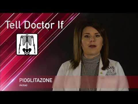 Видео о препарате Актос Пиоглитазон (аналог Пиоглар) табл. 30мг №28