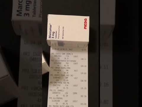 Видео о препарате Маркумар (Фенпрокумон) 3мг таб 100шт