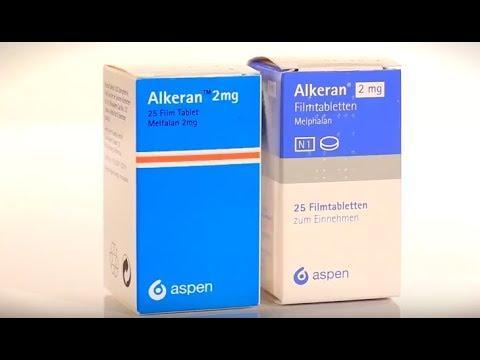Видео о препарате Алкеран Aspen 2мг №25