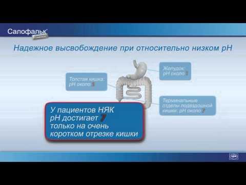 Видео о препарате Салофальк гранулы 1000мг №100 (100штук)