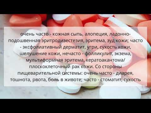 Видео о препарате Нексавар 200мг №112