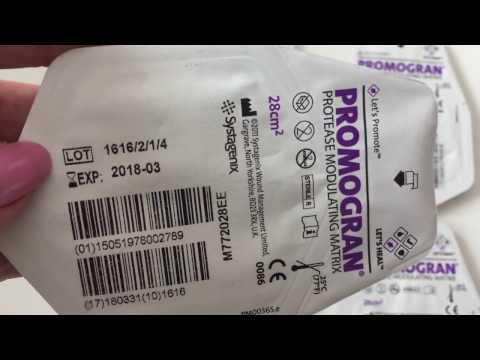 Видео о препарате Промогран (Promogran) повязка 28*28 см повязка 1шт